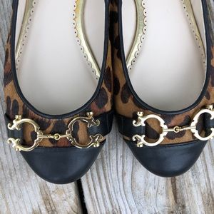 C Wonder Leopard Calf Hair Flats! NEW!